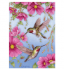 Toland Home Garden Hummingbirds With Pink 12.5 x 18 Inch Decorative Spring Summer Bird Flower Garden