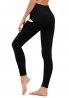TUNGLUNG High Waist Yoga Pants, Yoga Pants with Pockets Tummy Control Workout Pants 4 Way Stretch Po