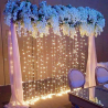 Twinkle Star 300 LED Window Curtain String Light for Christmas Wedding Party Home Garden Bedroom Out