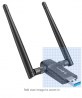 Wireless USB WiFi Adapter for PC - 802.11AC 1200Mbps Dual 5Dbi Antennas 5G/2.4G WiFi USB for PC Desk