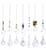 wonuu Hanging Crystal Sun Catcher, Chanderlier Suncatchers Crystal Balls, Hanging Ornament Rainbow M