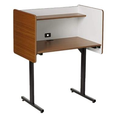 Balt 89788 Adjustable Study Carrel Workstation, Oak Laminate, 38.25