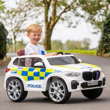BMW X5 Police 6V Electric Ride On Jeep