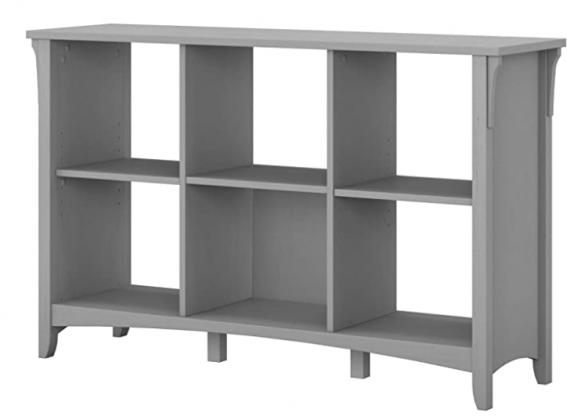 Bush Furniture Salinas 6 Cube Organizer, Cape Cod Gray