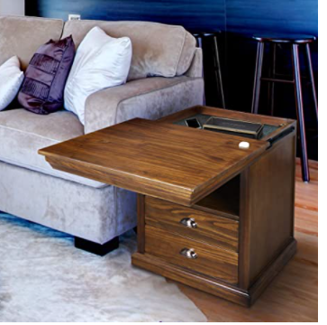 Casual Home Lincoln Nightstand Compartment, Concealment Furniture, Mocha
