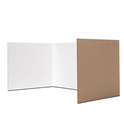Flipside Products Flipside Corrugated Privacy Shield, White, 18