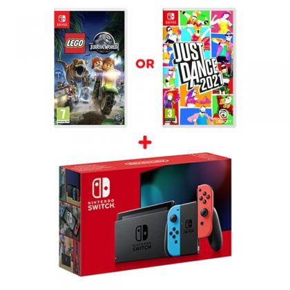 Nintendo Switch Neon Console & Select Game