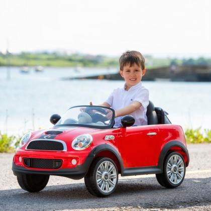 Red Mini Cooper 6V Electric Ride On with Remote Control