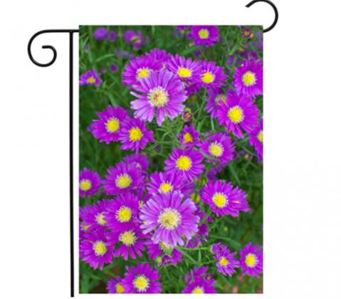 ShineSnow Spring Summer Purple Floral Flowers Garden Plant Garden Yard Flag 12