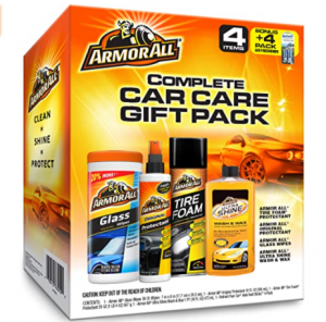 Armor All Car Wash and Cleaner Kit (4 Items) - 2pc Glass Wipes & Protectant with Wax & Wash Concentr