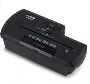 Aurora AU800SD Professional Strip Cut Paper Shredder/CD/Credit Card Shredder Without Wastebasket, 8-