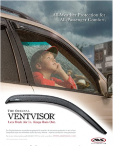 Auto Ventshade 94242 Original Ventvisor Side Window Deflector Dark Smoke, 4-Piece Set for 2010-2018