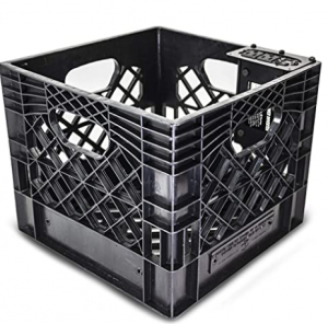 AutoExec AUE80014 Milkcrate with Power Inverter for Organizing Your Vehicle