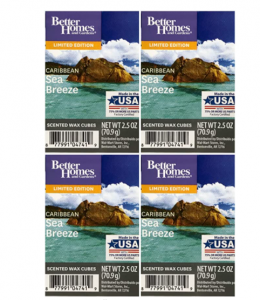 Better Homes and Gardens Caribbean Sea Breeze Wax Cubes - 4-Pack