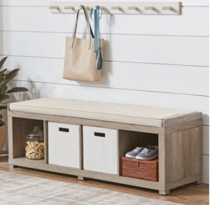 Better Homes and Gardens Cube Organizer Storage Bench - (4-Cube, Rustic Gray) (4-Cube, Rustic Gray)