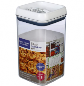 Better Homes and Gardens Flip-Tite 10 Cup Square Container, Easy-open lid