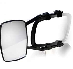 Camco Clamp-On Towing Mirror - Securely Clamps onto Your Vehicle's Mirror to Increase Visibility Whi