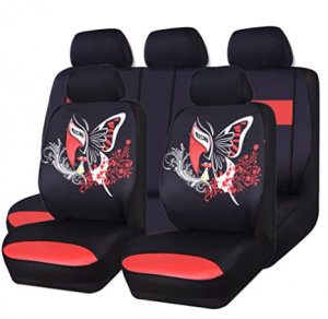 CAR PASS 11PCS Insparation Butterfly Universal Fit Car Seat Covers Set Package-Universal fit for Veh
