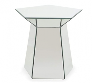 Christopher Knight Home Andre Modern Pentagon Accent Table with Mirrored Finish