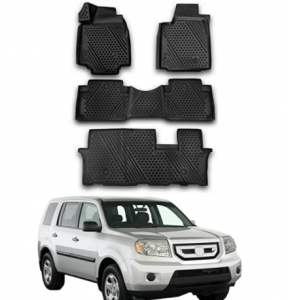 Complete Set Custom Fit Liner Auto Accessories | All Weather Performance 3D Molded Black Rubber Car