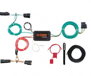 CURT 56292 Vehicle-Side Custom 4-Pin Trailer Wiring Harness, Select Ford Edge Titanium , Black