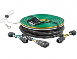CURT 58902 Custom Towed-Vehicle RV Wiring Harness for Dinghy Towing, Select Jeep Wrangler TJ