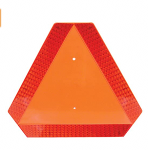 Deflecto Slow Moving Vehicle Sign with Reflective Tape, Safety Triangle, Orange, Highly Visible, Pla
