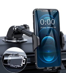 DesertWest Car Phone Mount, [All-Round Protection] Cell Phone Holder for Car Dashboard Windshield Ai