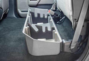 DU-HA Under Seat Storage Fits 15-17 Ford F-150 SuperCrew, Black, Part #20110