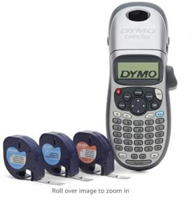 DYMO Label Maker with 3 Bonus Labeling Tapes   LetraTag 100H Handheld Label Maker & LT Label Tapes,