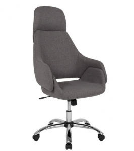 Flash Furniture Marbella Home and Office Upholstered High Back Chair in Dark Gray Fabric