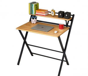 Household Folding Table, Laptop Table, No Need to Assemble Folding Desk, Suitable for Small Space, H