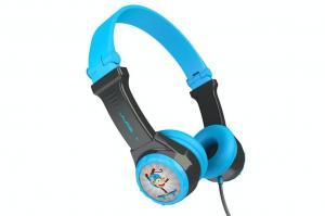 JLab JBuddies On-Ear Kids Folding Headphones | Grey/Blue