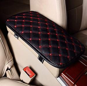 LKXHarleya Car Center Console Cover, Universal Car Armrest Cover, PU Leather Auto Arm Rest Cushion P