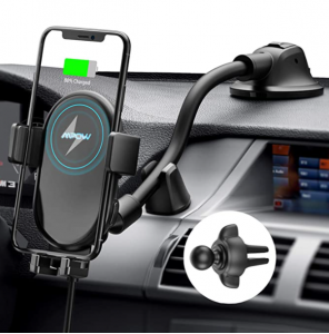 Mpow Car Wireless Charger, Qi Car Charger 10W/7.5W/5W, Auto-Clamping Wireless Car Charger Air Vent D