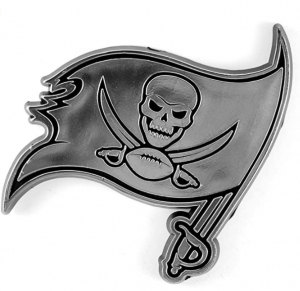 NFL Tampa Bay Buccaneers Chrome Automobile Emblem