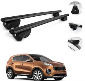 OMAC Automotive Exterior Accessories Roof Rack Crossbars | Aluminum Black Roof Top Cargo Racks | Lug