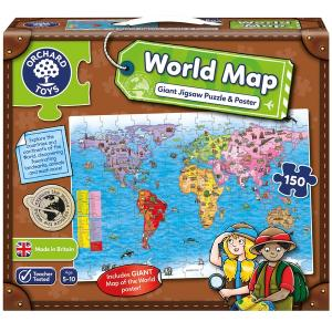 Orchard Toys World Map 150 Piece Jigsaw Puzzle