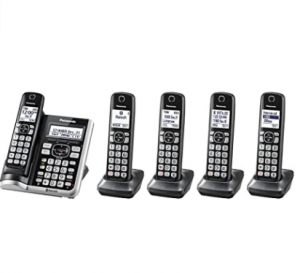 Panasonic Link2Cell Bluetooth Cordless Phone System with Voice Assistant, Call Blocking and Answerin
