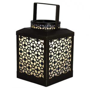 Priya Home Furniture PHF-493860-RI Home Indoor Decorative Scented Sitara Full Size Wax Warmer-Metal,
