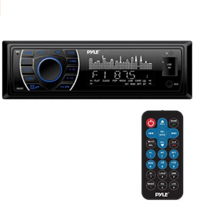 Pyle Bluetooth Marine Receiver Stereo - 12v Single DIN Style Boat In dash Radio Receiver System with