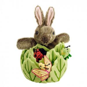 Rabbit In A Lettuce - With 3 Mini Beasts - Hide-Away