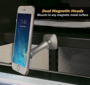 SCOSCHE MEDPASR MagicMount Elite Double-Pivot Adhesive Magnetic Mount for Mobile Devices, Silver