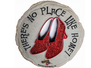 Spoontiques - Garden Décor - Ruby Slippers Stepping Stone - Decorative Stone for Garden
