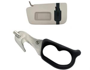 StatGear SuperVizor XT Auto Escape Tool, Black with sunvisor holder