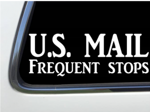 ThatLilCabin - U.S. Mail Frequent Stops car Window Decal Rural Carrier 8