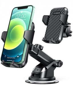 VANMASS Universal Car Phone Mount,【Patent & Safety Certs】Upgraded Handsfree Stand, Dash Windshie