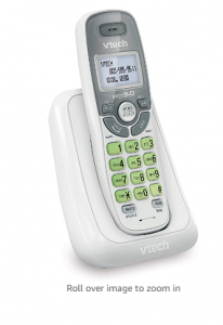 VTech CS6114 DECT 6.0 Cordless Phone with Caller ID/Call Waiting, White/Grey with 1 Handset, 3.50 x