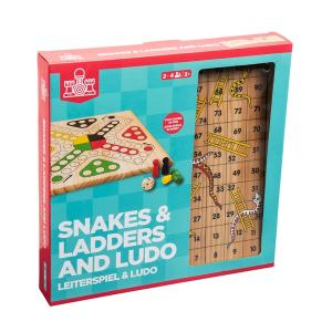 Wooden Snakes & Ladders and Ludo Game