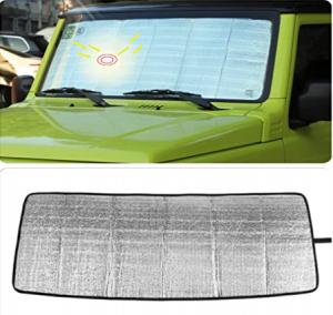 YOCTM for Suzuki Jimny 2019 2020 Silver Car Windshield Sun Shade Reflector Foldable Sun Visor Protec